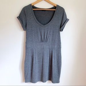 Lucca Couture Grey Knit Short Sleeve Sheath Dress